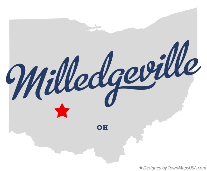 Map of Milledgeville Ohio OH