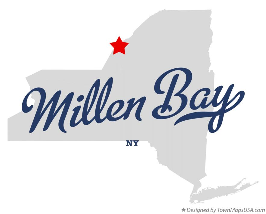 Map of Millen Bay New York NY