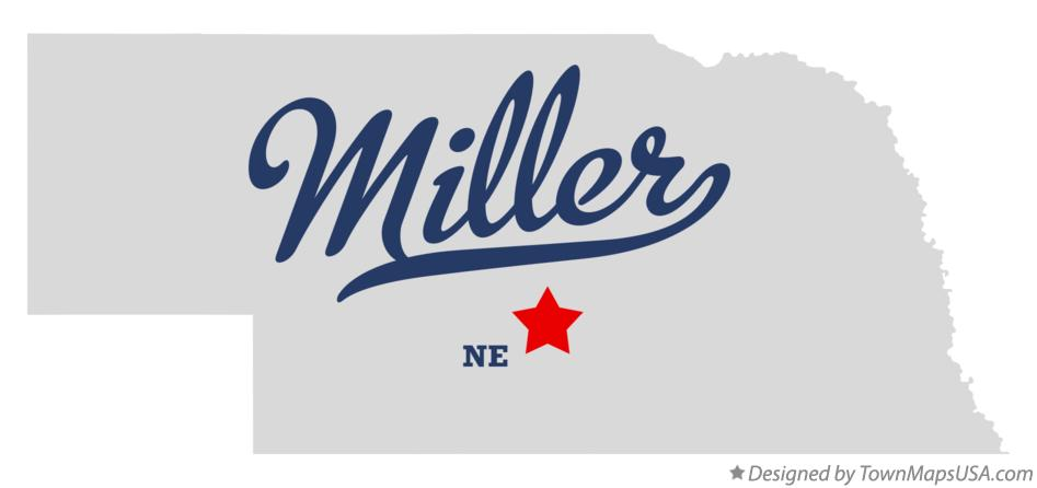 Map of Miller Nebraska NE