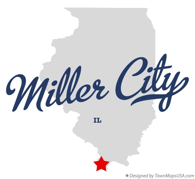 Map of Miller City Illinois IL