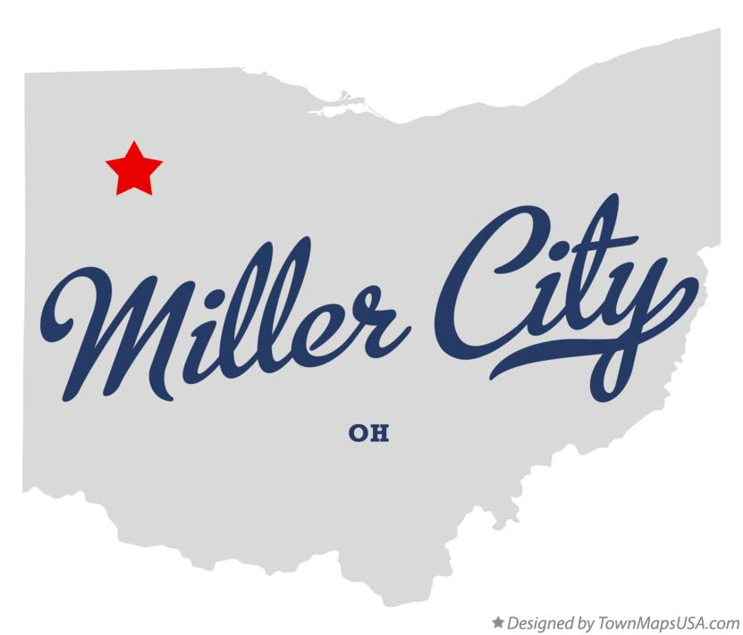 Map of Miller City Ohio OH