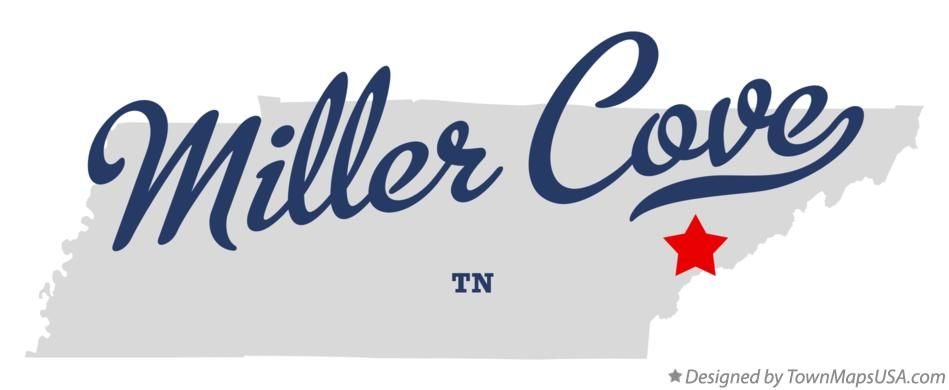 Map of Miller Cove Tennessee TN