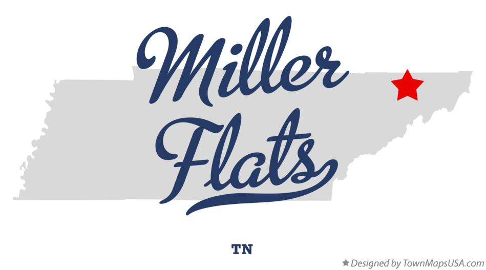 Map of Miller Flats Tennessee TN