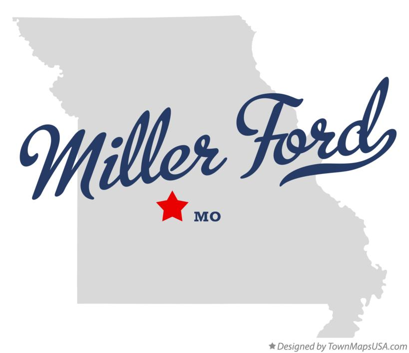 Map of Miller Ford Missouri MO