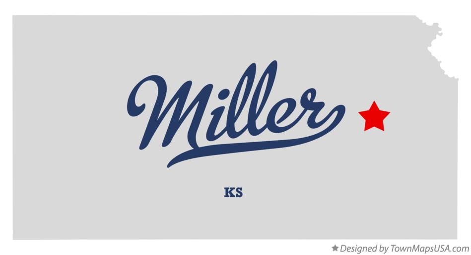 Map of Miller Kansas KS