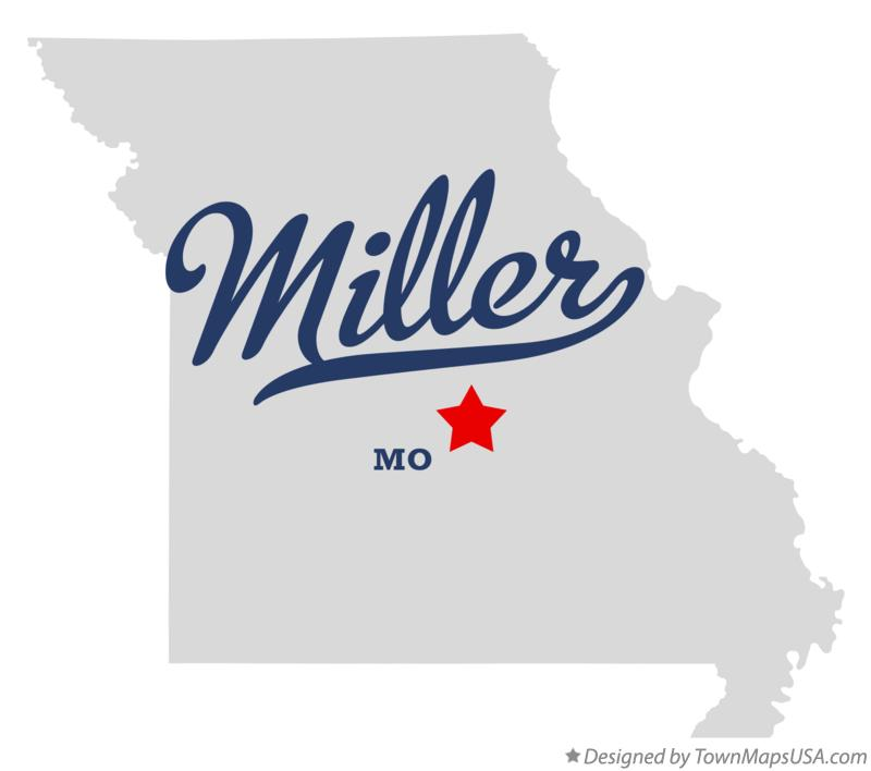 Map of Miller Missouri MO
