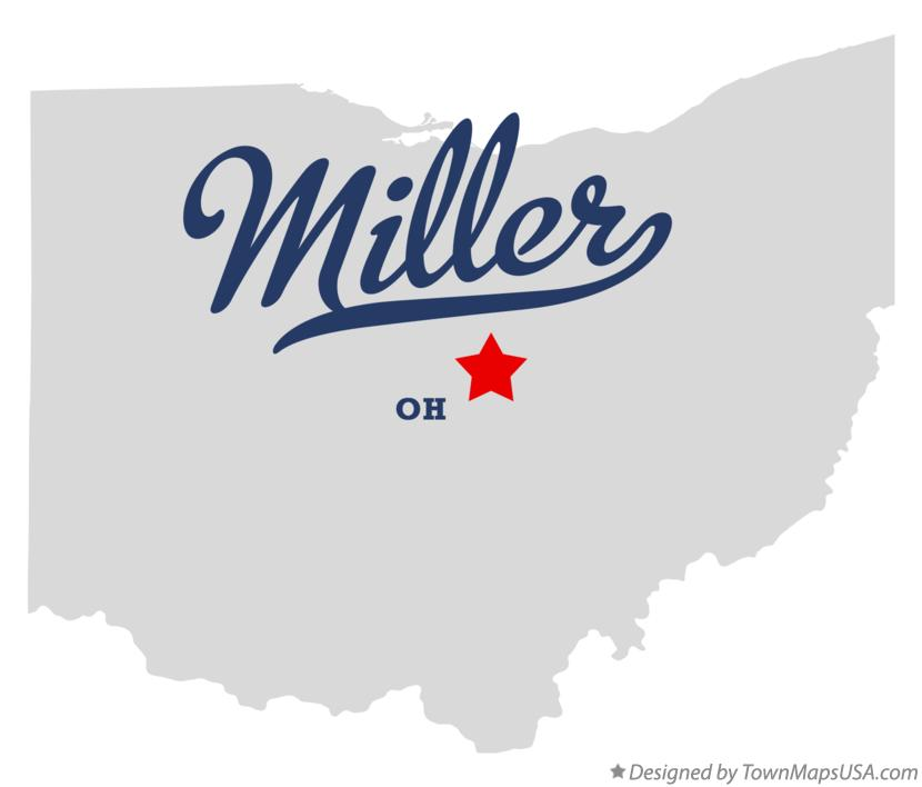 Map of Miller Ohio OH