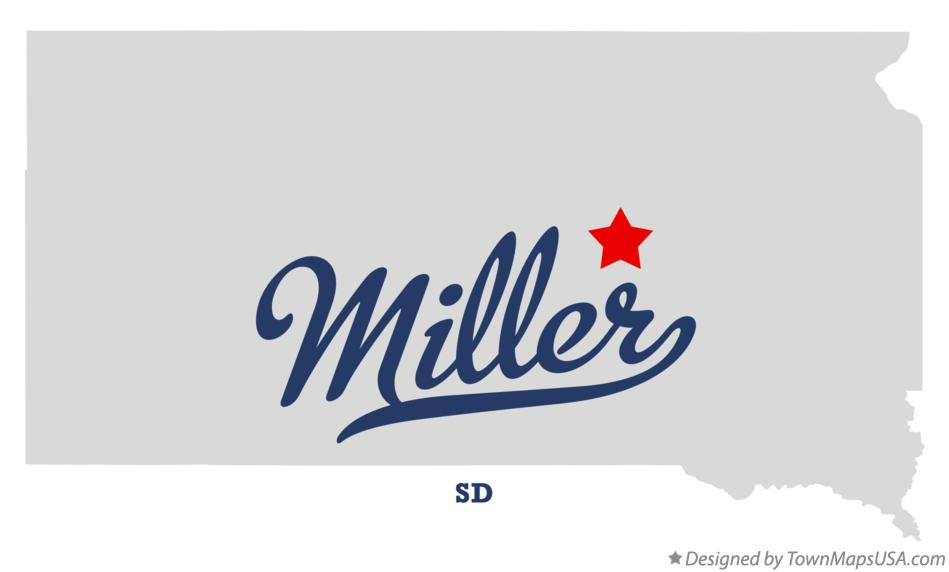 Map of Miller South Dakota SD