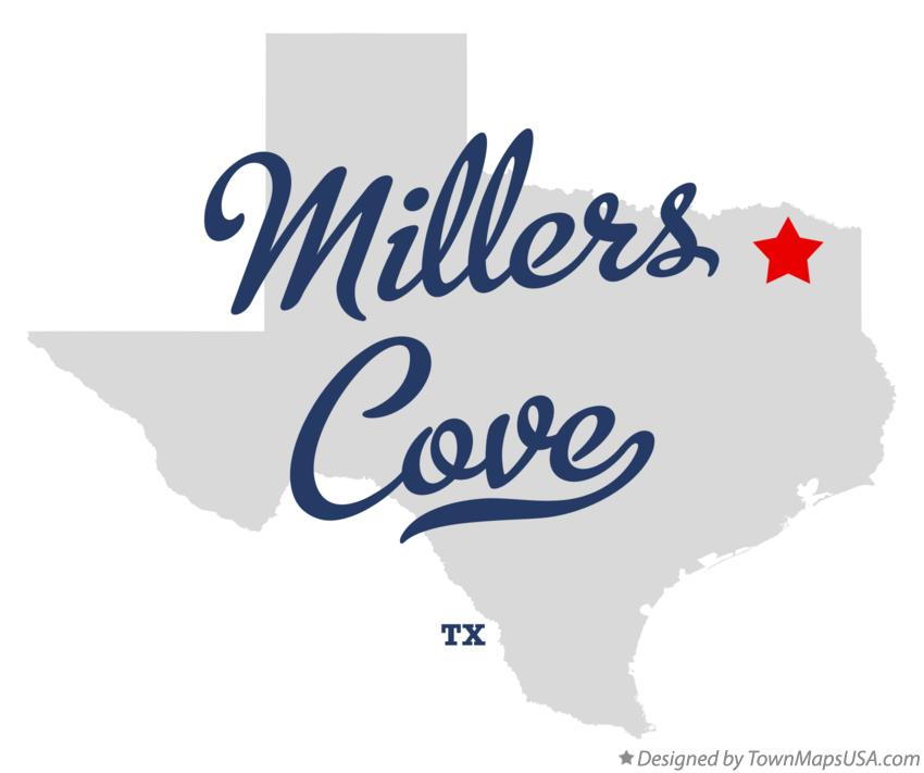 Map of Millers Cove Texas TX