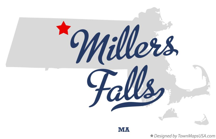 Map of Millers Falls Massachusetts MA