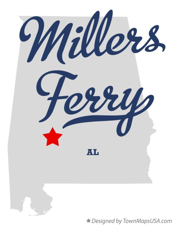 Map of Millers Ferry Alabama AL
