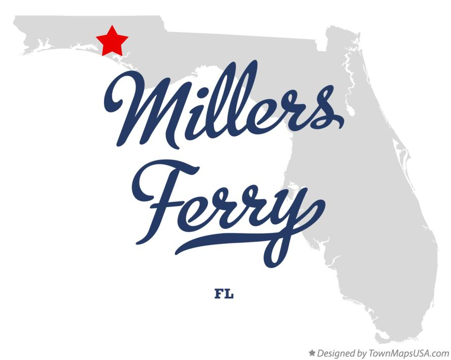Map of Millers Ferry Florida FL
