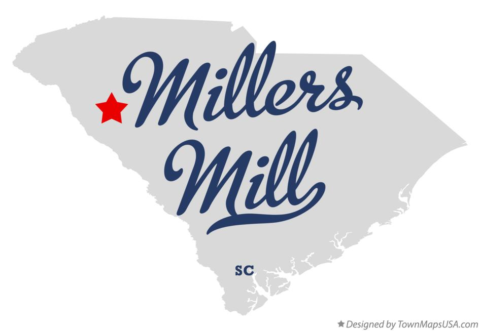 Map of Millers Mill South Carolina SC