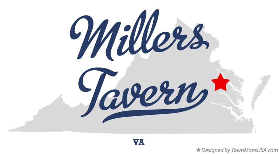 Map of Millers Tavern Virginia VA