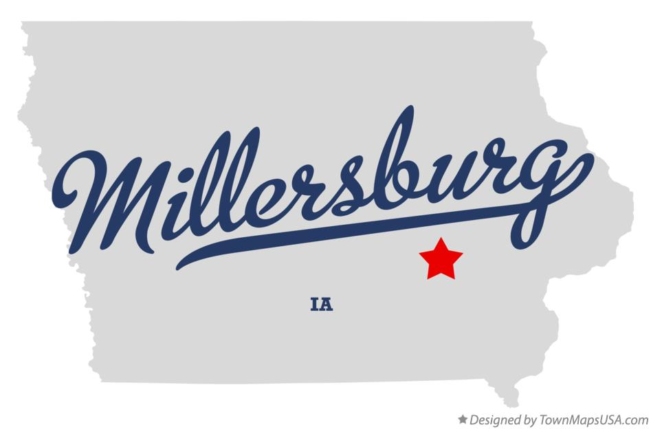 Map of Millersburg Iowa IA