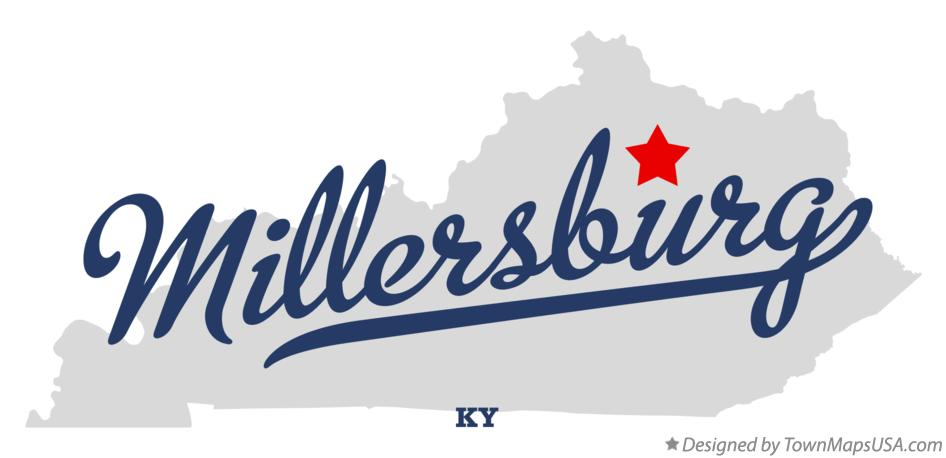 Map of Millersburg Kentucky KY