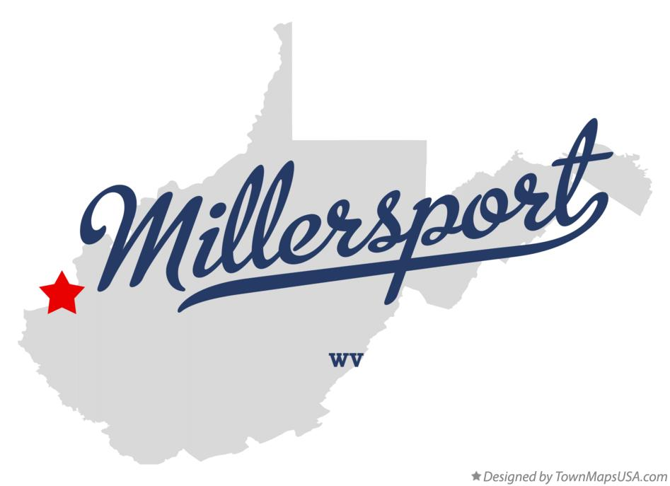 Map of Millersport West Virginia WV
