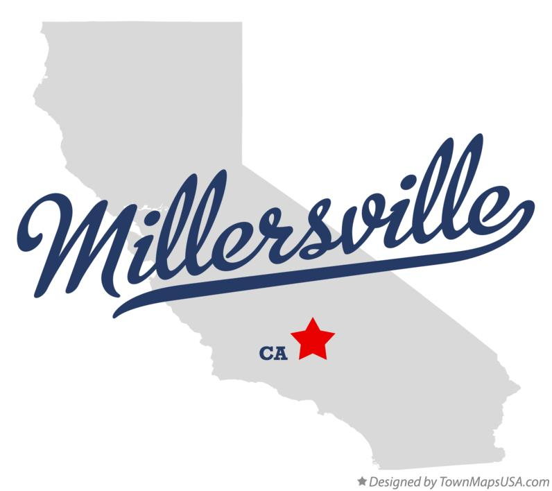 Map of Millersville California CA