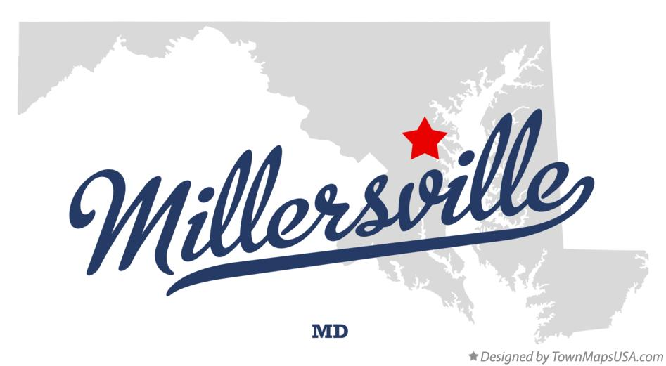 Map of Millersville Maryland MD