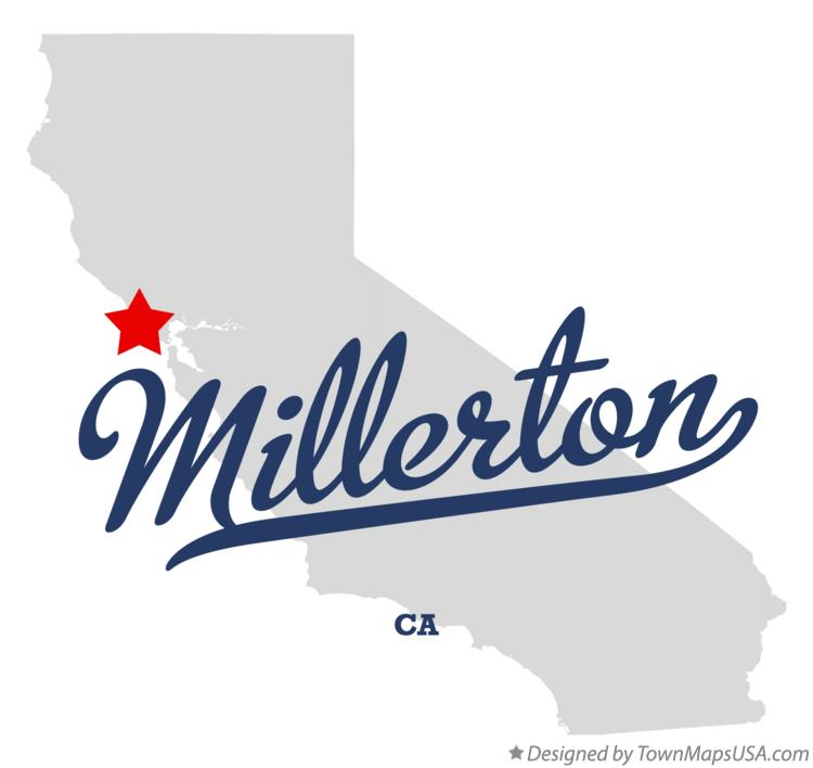Map of Millerton California CA