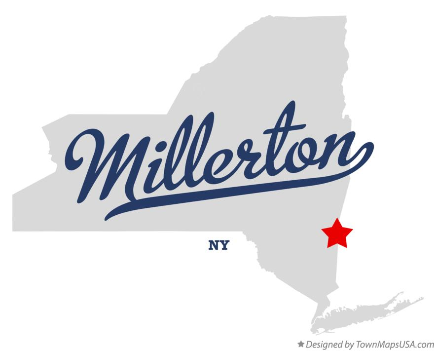 Map of Millerton New York NY