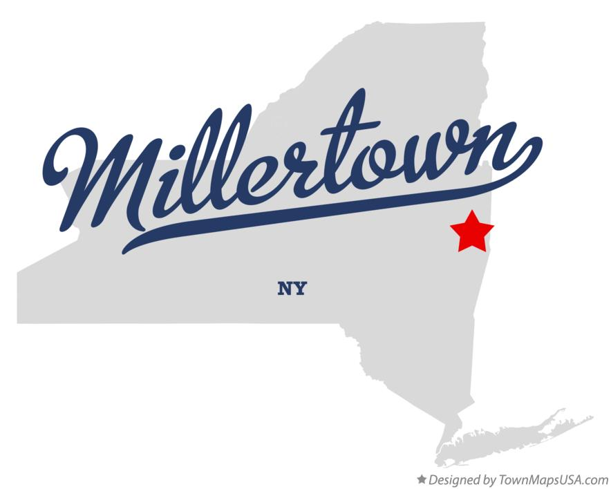 Map of Millertown New York NY