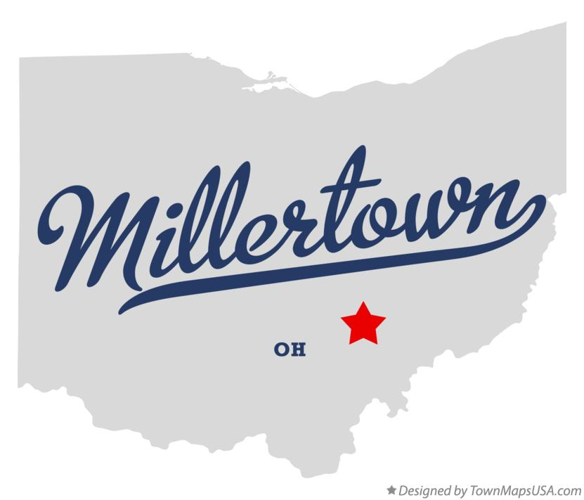 Map of Millertown Ohio OH