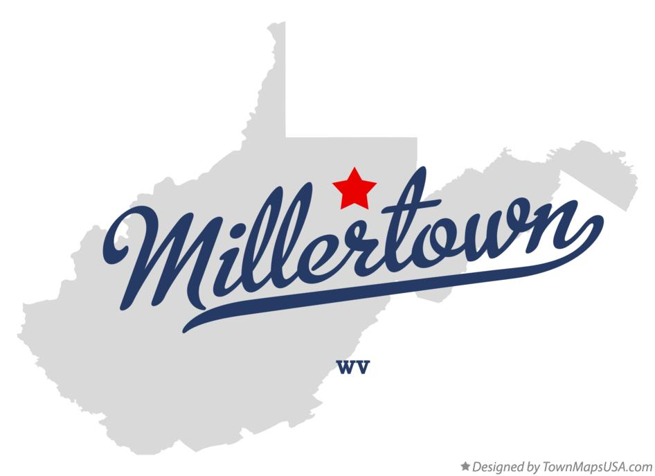 Map of Millertown West Virginia WV