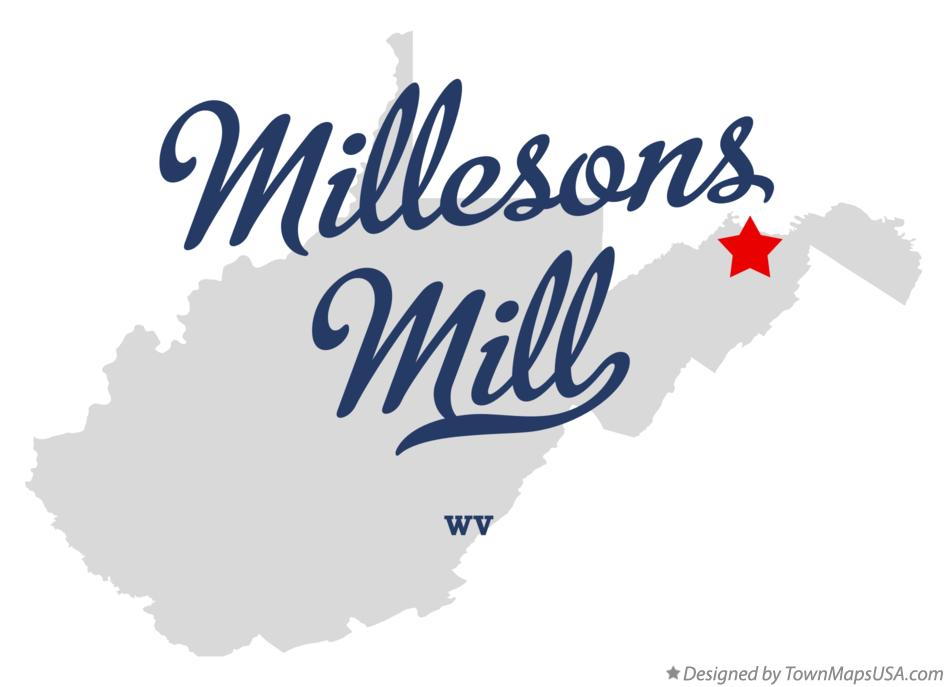 Map of Millesons Mill West Virginia WV