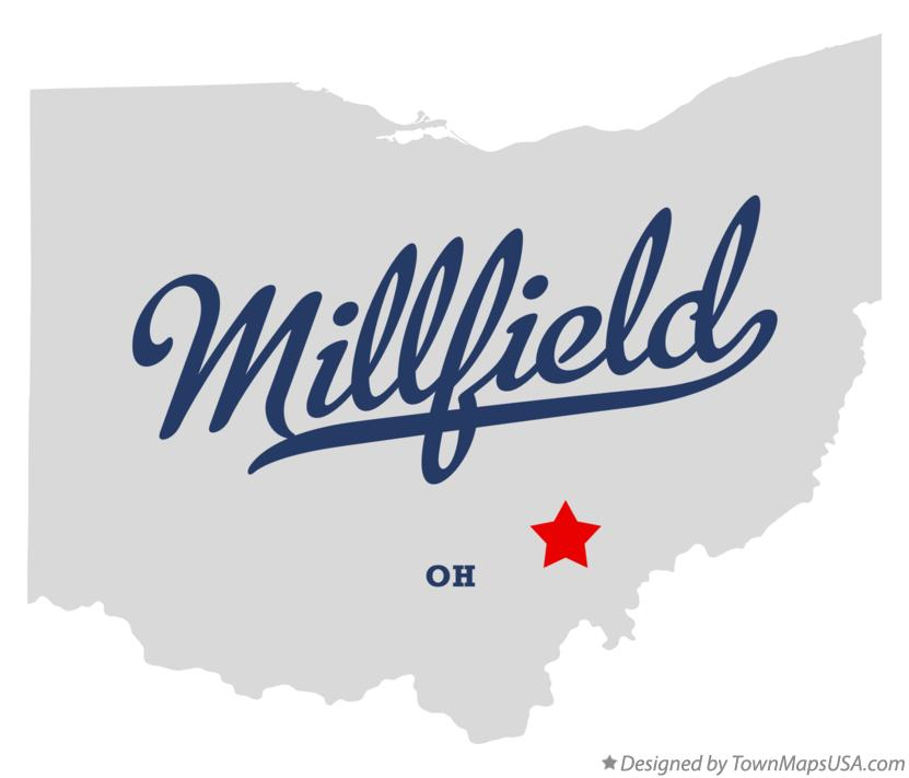Map of Millfield Ohio OH