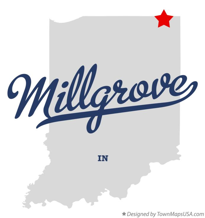 Map of Millgrove Indiana IN