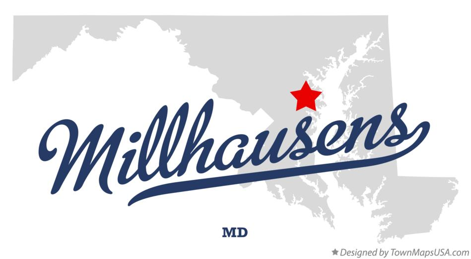 Map of Millhausens Maryland MD