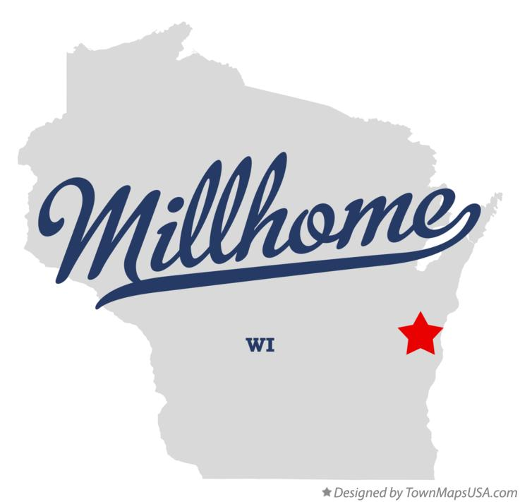 Map of Millhome Wisconsin WI