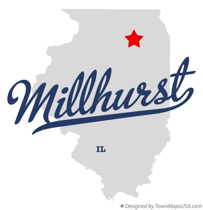 Map of Millhurst Illinois IL
