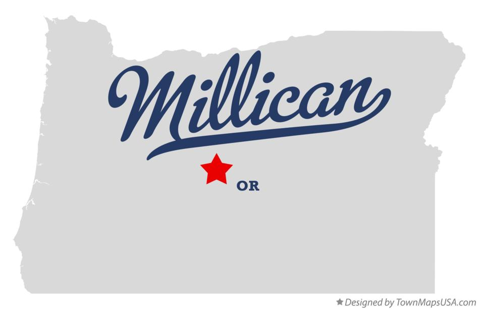 Map of Millican Oregon OR