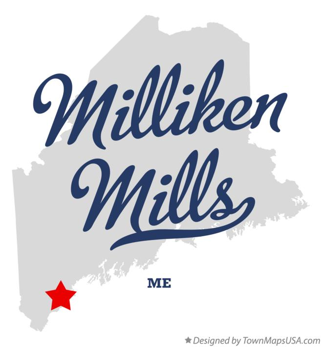 Map of Milliken Mills Maine ME