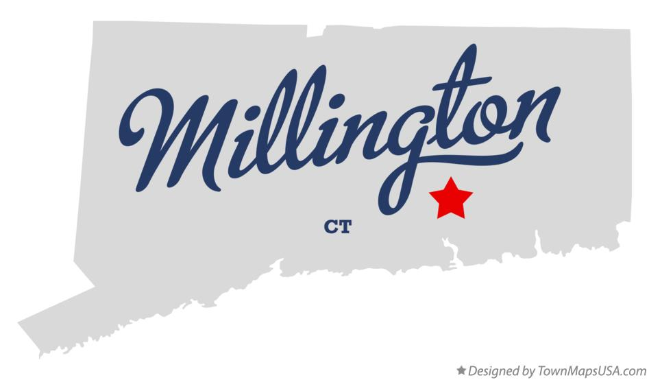 Map of Millington Connecticut CT