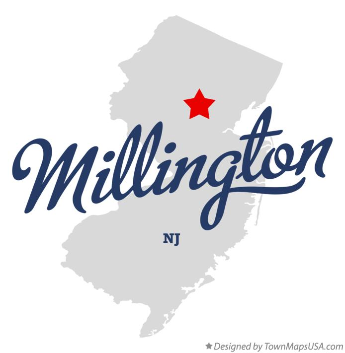Map of Millington New Jersey NJ