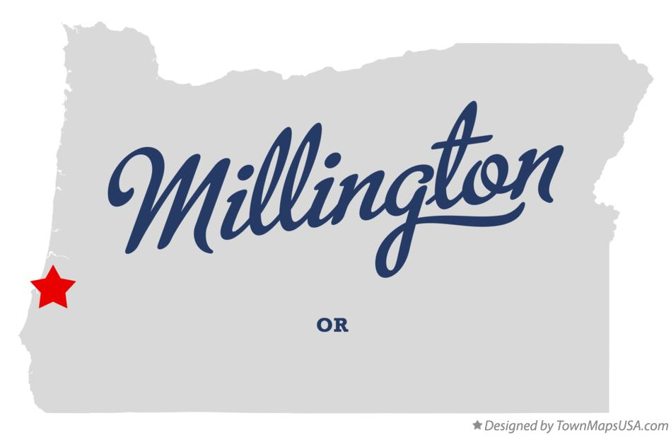 Map of Millington Oregon OR