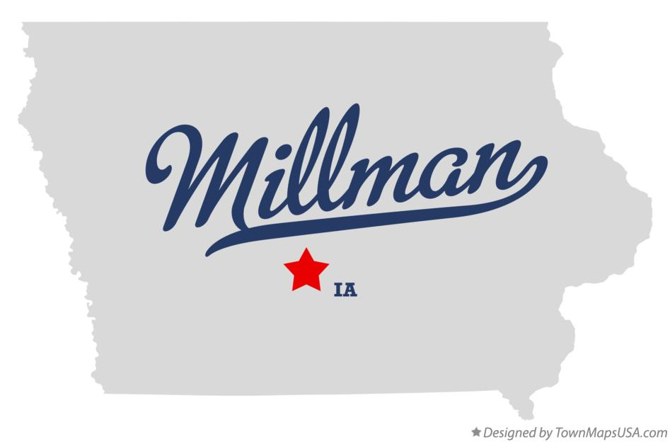 Map of Millman Iowa IA