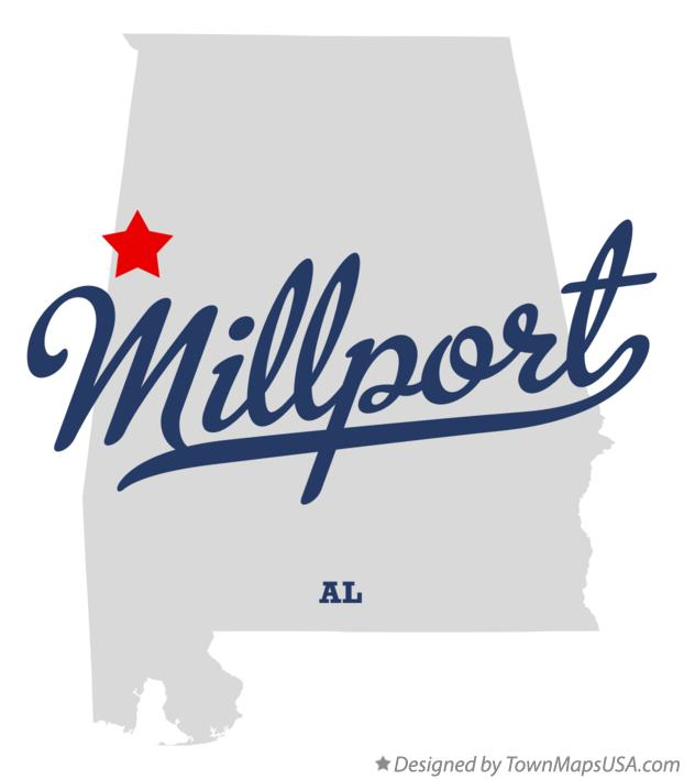 Map of Millport Alabama AL