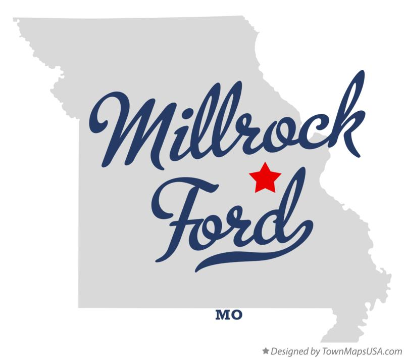 Map of Millrock Ford Missouri MO