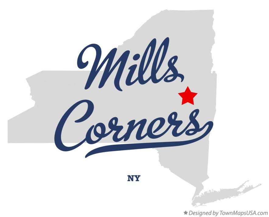 Map of Mills Corners New York NY