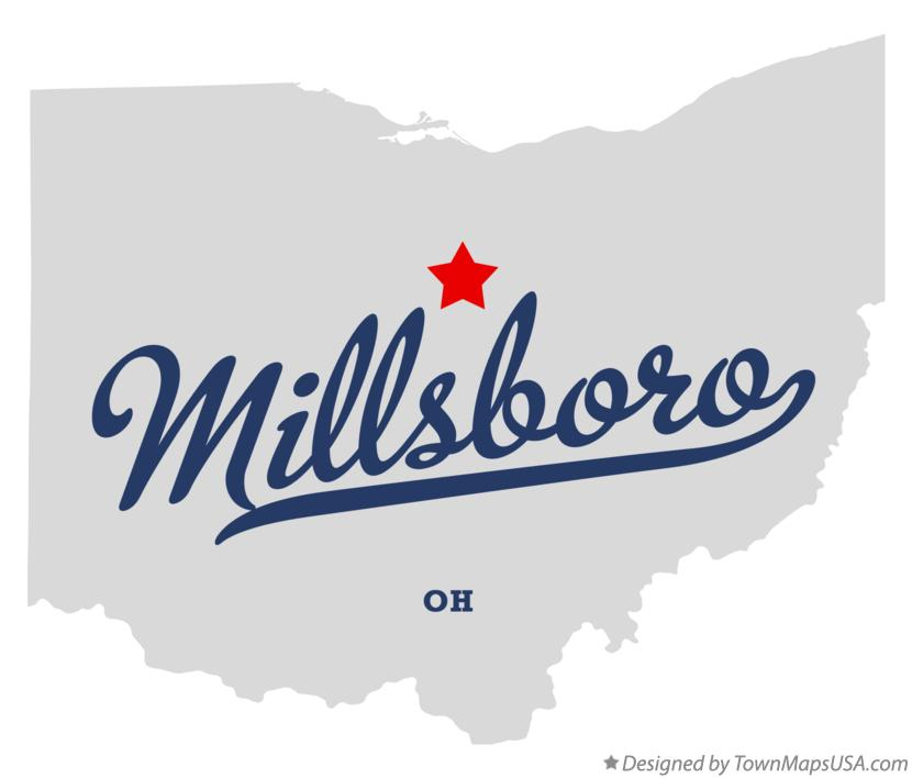 Map of Millsboro Ohio OH