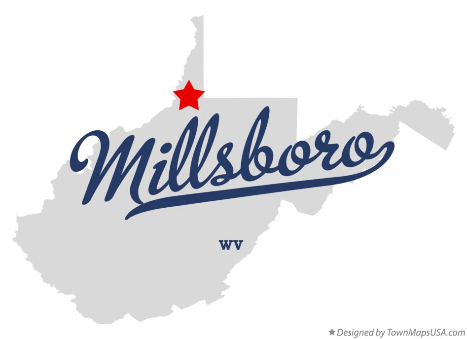 Map of Millsboro West Virginia WV