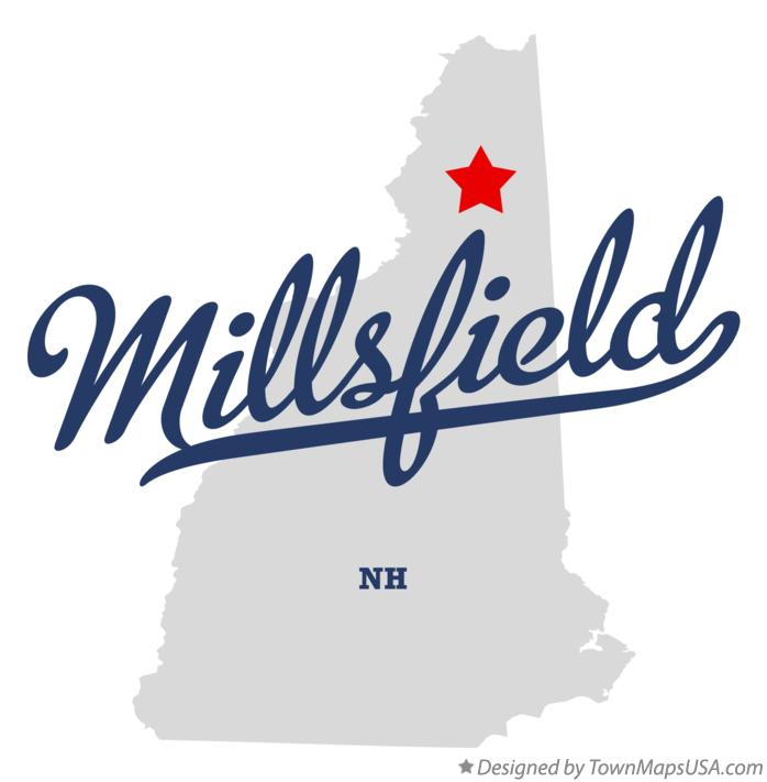 Map of Millsfield New Hampshire NH