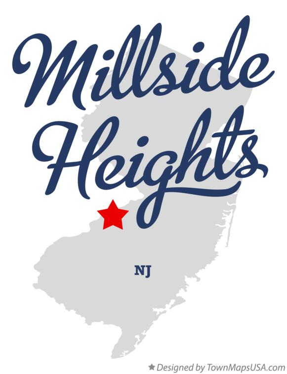 Map of Millside Heights New Jersey NJ