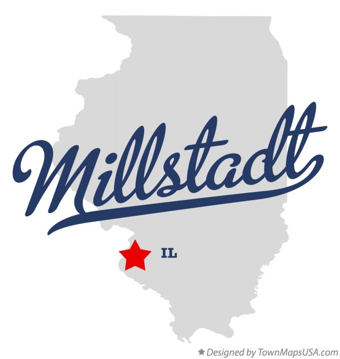 Map of Millstadt Illinois IL
