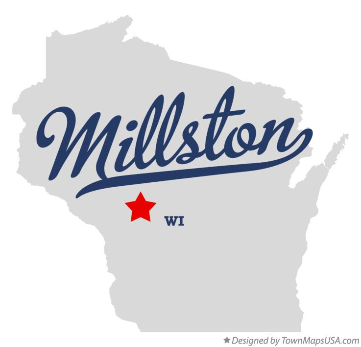 Map of Millston Wisconsin WI