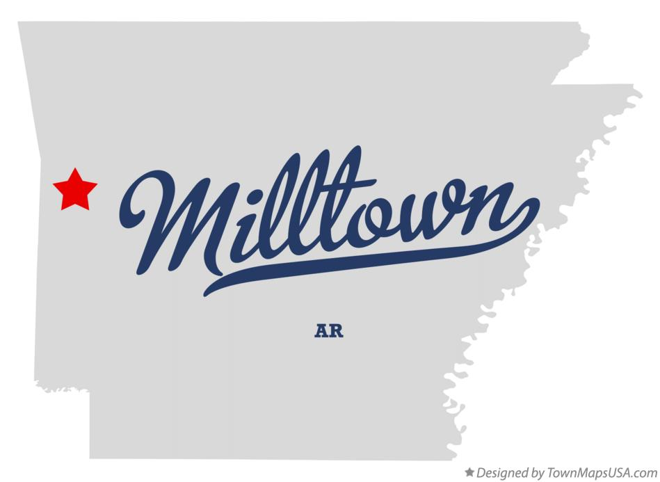 Map of Milltown Arkansas AR